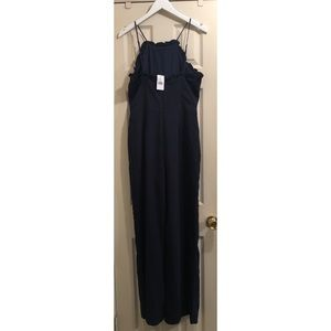 Adelyn Rae Pants - NWT Navy Adelyn Rae Apron Style Jumpsuit Sz Medium